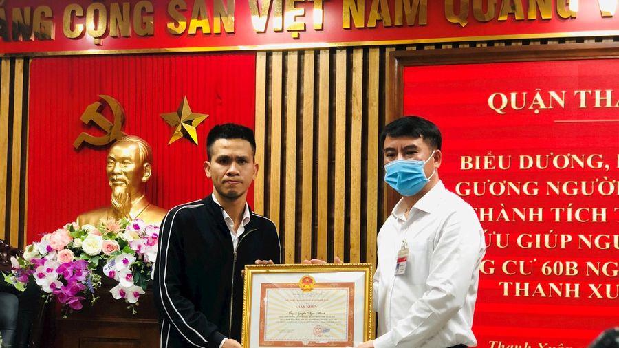 Quận Thanh Xuân biểu dương anh Nguyễn Ngọc Mạnh