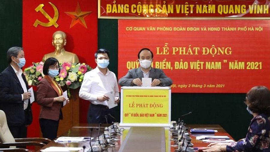 Cơ quan Văn phòng Đoàn đại biểu Quốc hội và HĐND TP ủng hộ Quỹ 'Vì biển, đảo Việt Nam' năm 2021