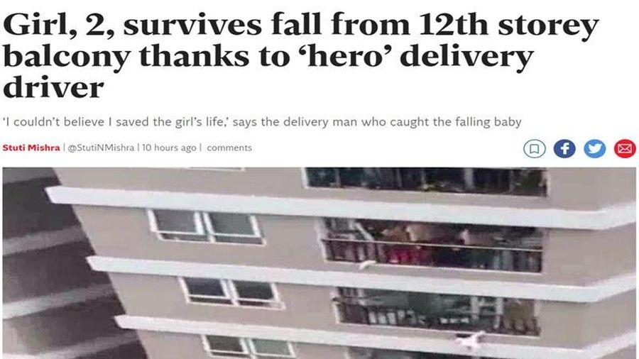 Báo Anh khen ngợi anh Nguyễn Ngọc Mạnh cứu em bé rơi từ chung cư