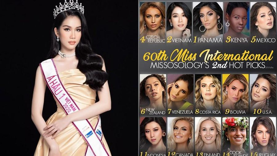 Á hậu Phương Anh được Missosology dự đoán giành ngôi Á hậu 1 tại Miss International 2021