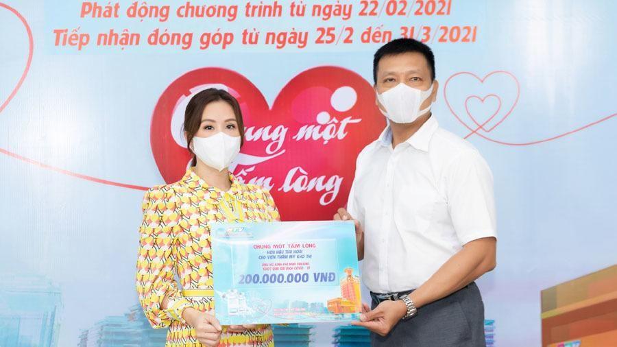 Hoa hậu Thu Hoài ủng hộ 200 triệu đồng mua vắc xin ngừa Covid-19