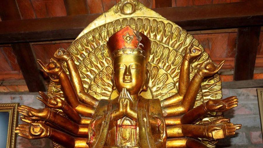 Chiêm ngưỡng pho tượng cổ 'Thiên thủ thiên nhãn' độc đáo ở Nghệ An