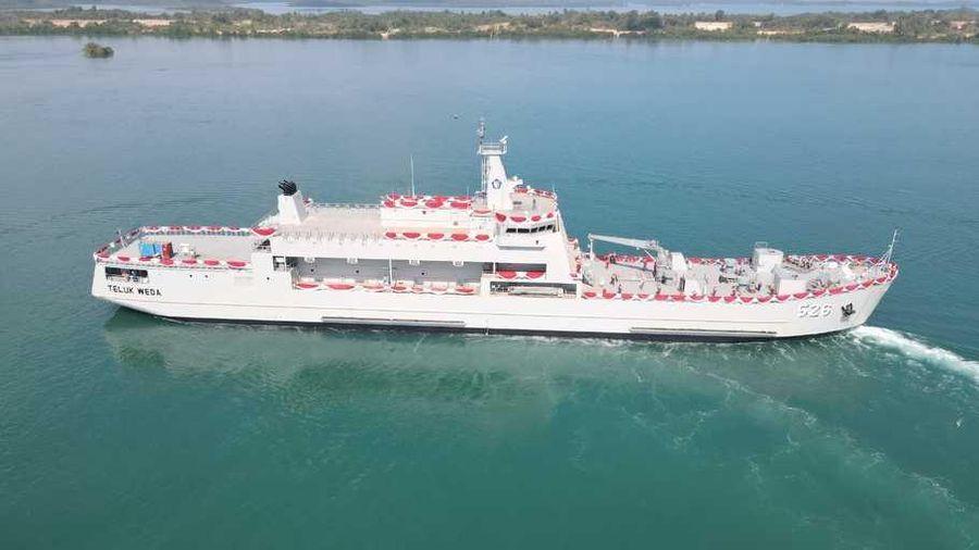 Indonesia hạ thủy tàu chở xe tăng tự đóng phiên chế cho hải quân