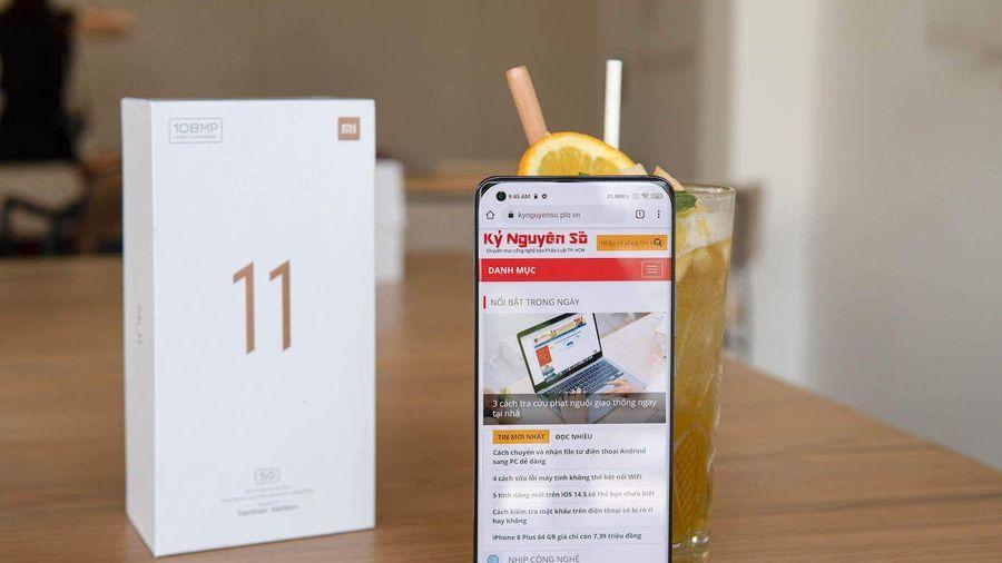 Đánh giá nhanh mẫu điện thoại cao cấp Mi 11