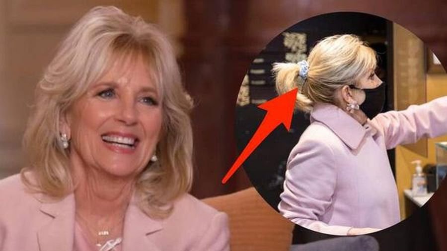 Phu nhân Tổng thống Biden cũng 'bắt trend' style Hàn với chun buộc tóc sành điệu