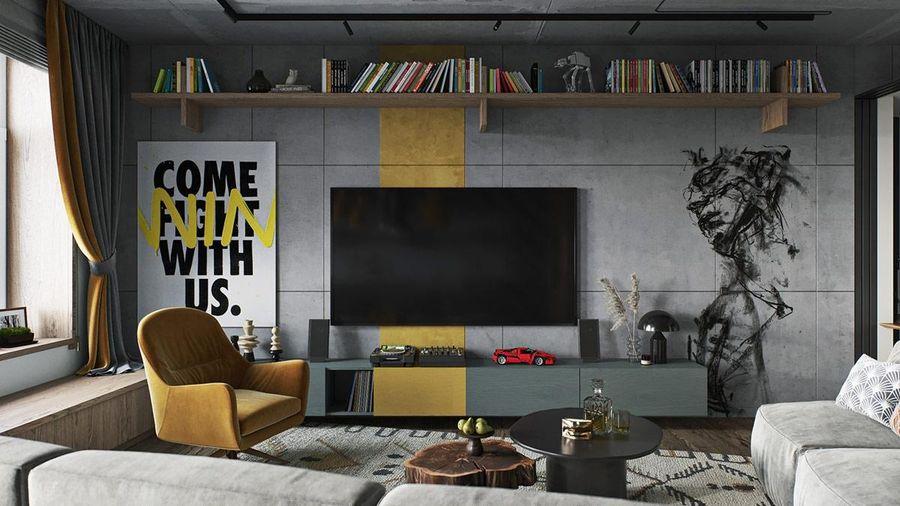 Cách 'chơi' màu vàng sáng tạo, thắp sáng căn nhà phong cách công nghiệp