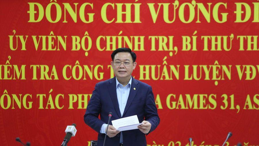Bí thư Hà Nội Vương Đình Huệ kiểm tra công trình phục vụ SEA Games 31