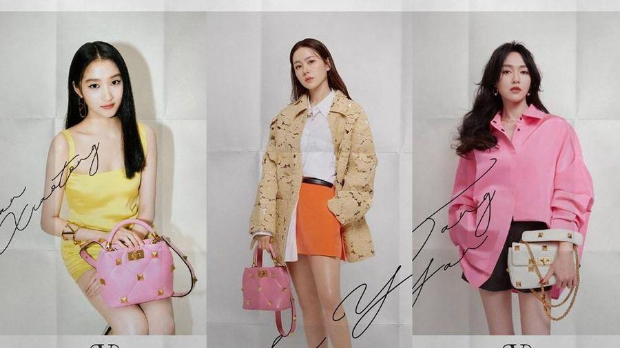 Chị đẹp Son Ye Jin xinh tươi trẻ đẹp ngang ngửa Đường Yên, Quan Hiểu Đồng ở show Valentino
