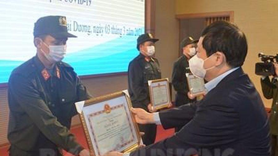 Khen thưởng 28 tập thể, cá nhân Bộ Tư lệnh Cảnh sát cơ động tham gia chống dịch ở Hải Dương