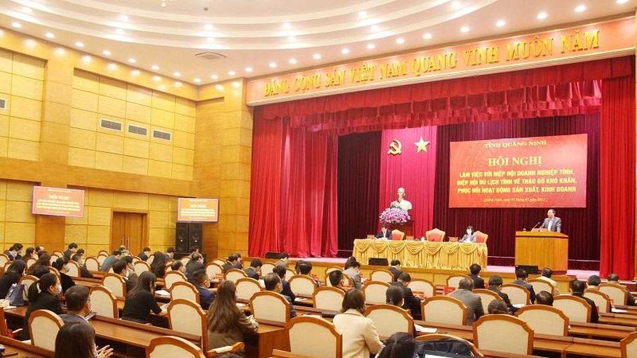 Quảng Ninh: Tháo gỡ khó khăn, phục hồi hoạt động sản xuất kinh doanh
