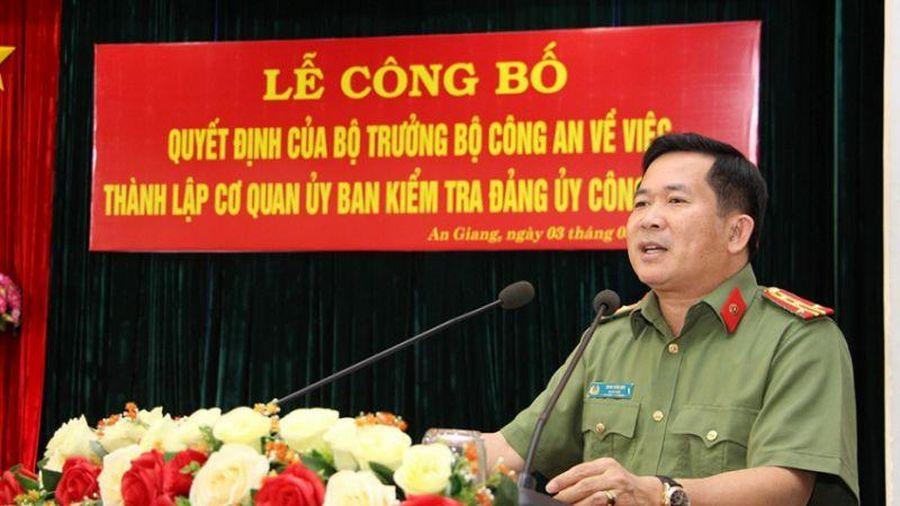 Lễ Công bố quyết định thành lậpCơ quan UBKT Đảng ủy Công an tỉnh An Giang
