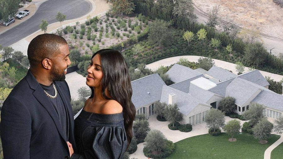 Kanye West nhường biệt thự 60 triệu USD cho Kim Kardashian