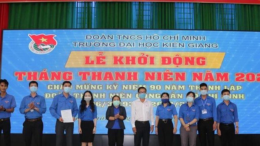 Đoàn Trường ĐH Kiên Giang ra quân Tháng Thanh niên