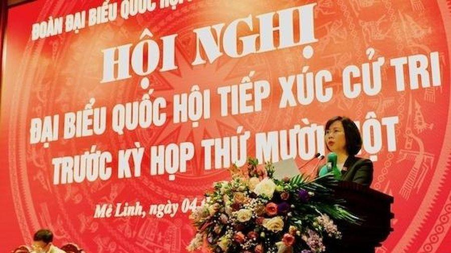 Đoàn Đại biểu Quốc hội khóa XIV TP Hà Nội tiếp xúc cử tri huyện Sóc Sơn và Mê Linh