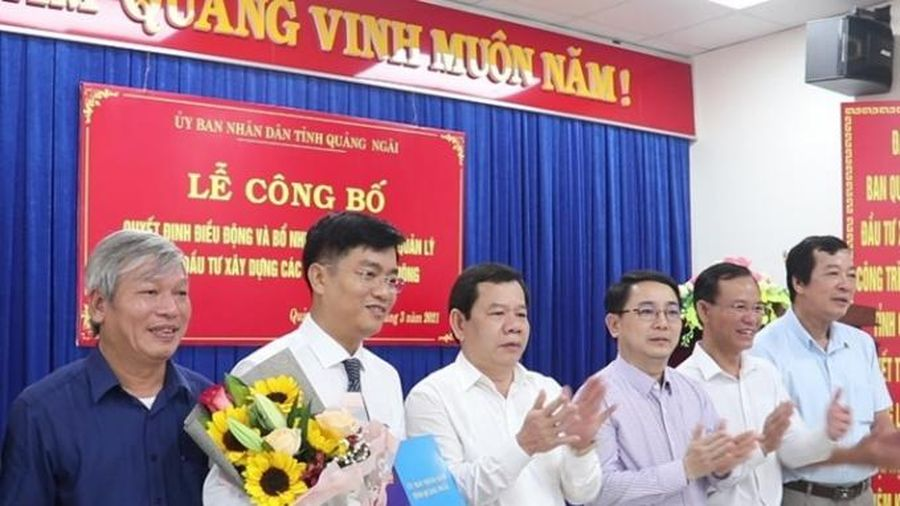 Bổ nhiệm Giám đốc BQL Dự án đầu tư xây dựng các công trình giao thông tỉnh Quảng Ngãi