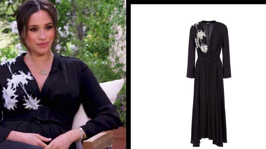 Meghan Markle diện bộ váy hơn 100 triệu đồng 'tái xuất' trên sóng truyền hình đã cháy hàng