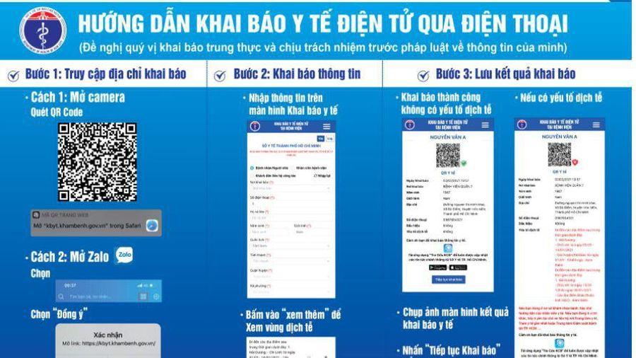 Cách sử dụng Zalo để quét mã QR Khai báo y tế điện tử tại bệnh viện