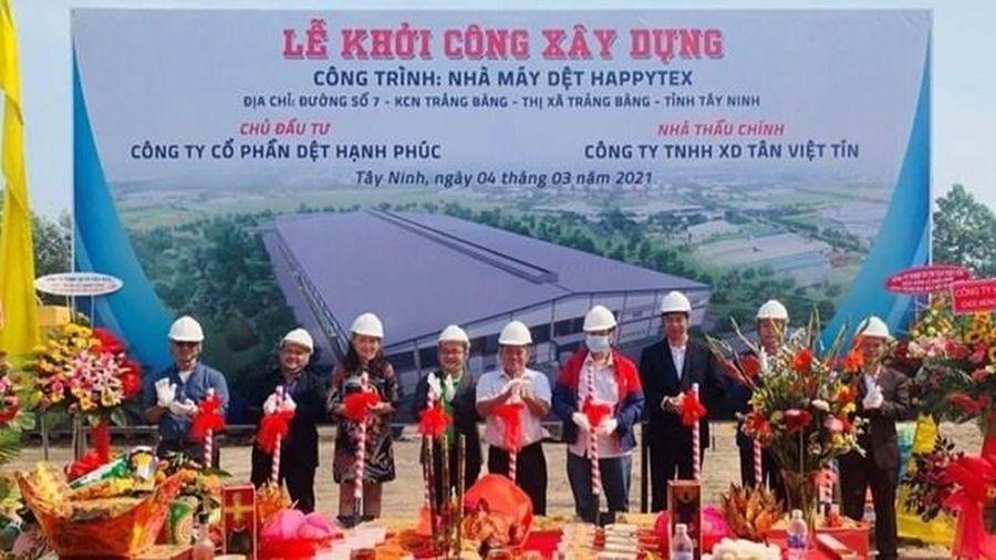 Tây Ninh khởi công nhà máy dệt với số vốn 15 triệu USD