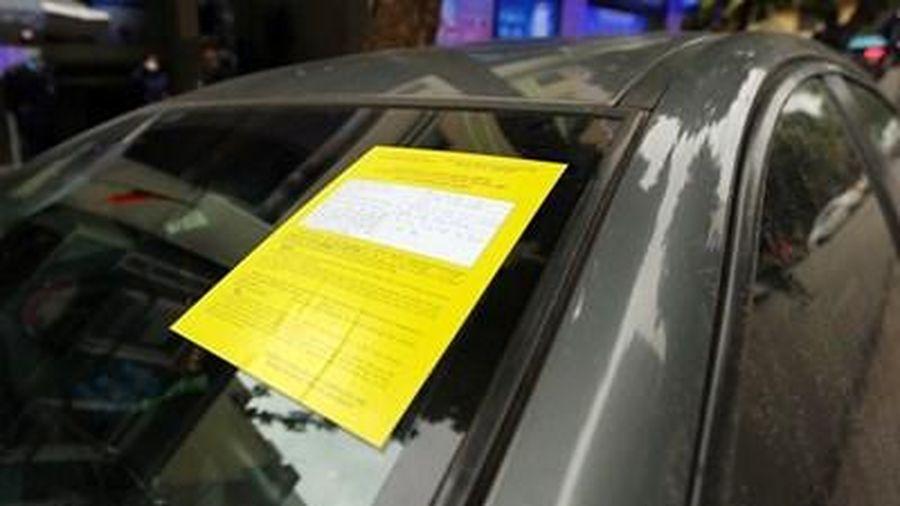 Hà Nội: 70,5% phương tiện bị dán phạt nguội đều chấp hành xử phạt
