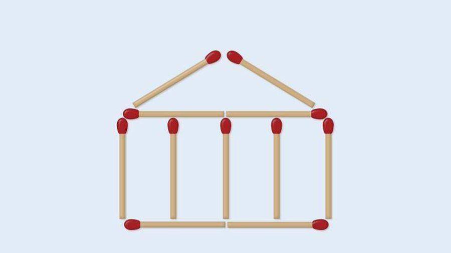 Di chuyển 2 que diêm để tạo thành 11 hình vuông