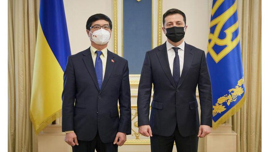 Đại sứ Việt Nam tại Ukraine trình Ủy nhiệm thư lên Tổng thống