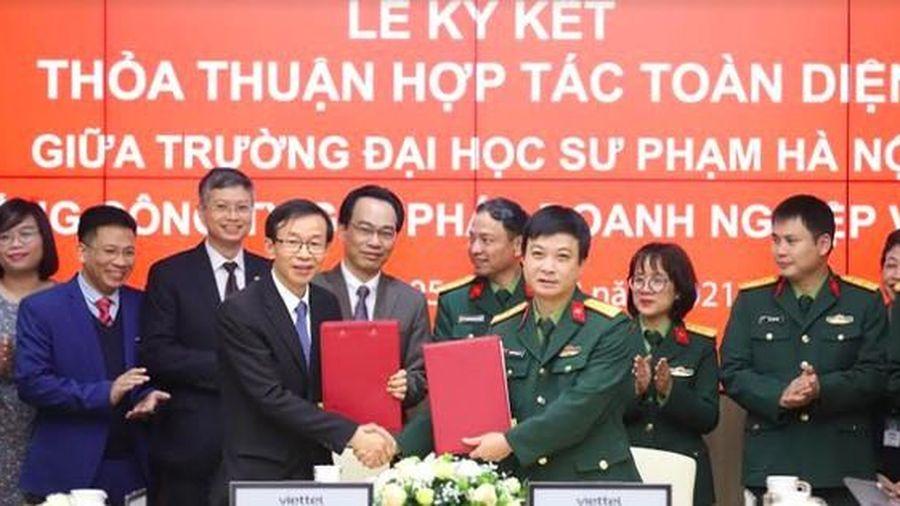 ĐH Sư phạm Hà Nội bắt tay chiến lược cùng Viettel trong chuyển đổi số
