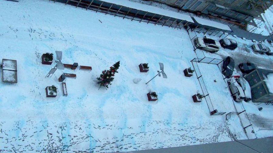 Gian nan đi tìm lời giải hiện tượng tuyết xanh kỳ lạ