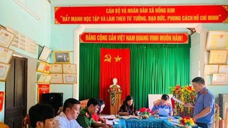 Kiểm tra việc thực hiện kiến nghị tại UBND xã Hồng Kim, huyện A Lưới