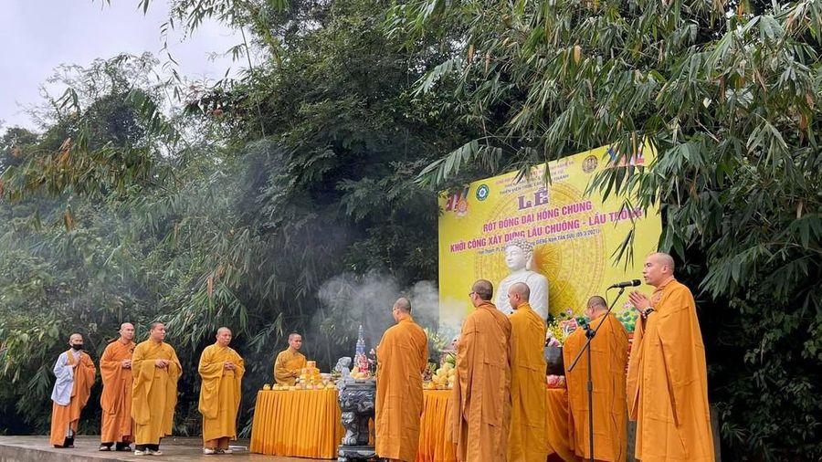 Thiền viện trúc lâm Yên Thành tổ chức Lễ đúc đại hồng chung nặng 1,5 tấn