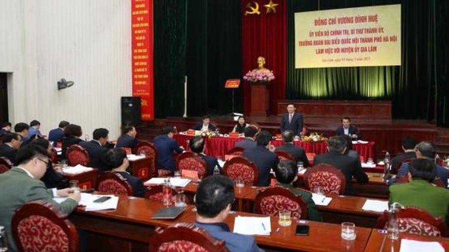 Huyện Gia Lâm mong được tháo gỡ 5 lĩnh vực để sớm lên quận