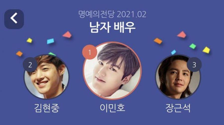 Lee Min Ho vượt mặt Lee Jun Ki - Hyun Bin trong BXH top 20 sao Hàn được yêu thích nhất