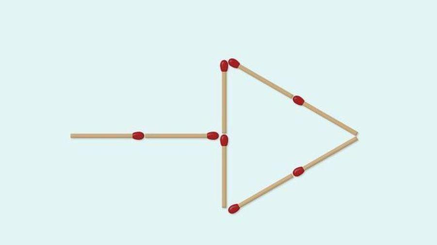 Di chuyển 4 que diêm để tạo thành 2 mũi tên, bạn có làm được?