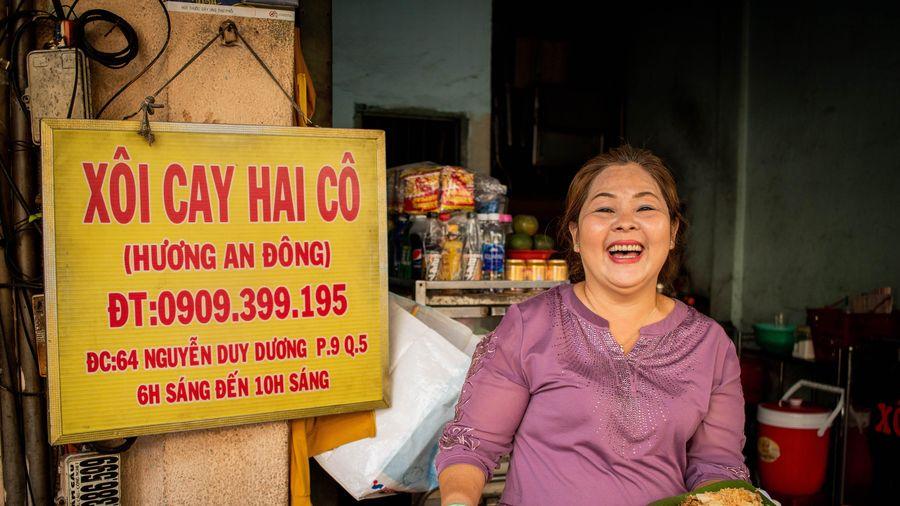 Món xôi cay nổi tiếng của gia đình người Hoa tại TP.HCM