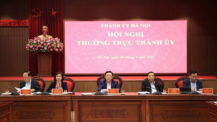 Thường trực Thành ủy Hà Nội nhất trí cao với dự thảo 10 Chương trình công tác toàn khóa