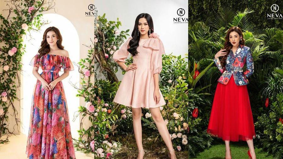 Hoa hậu, Á hậu mặc gì cũng đẹp nhưng xuất sắc nhất là khoe dáng với họa tiết hoa