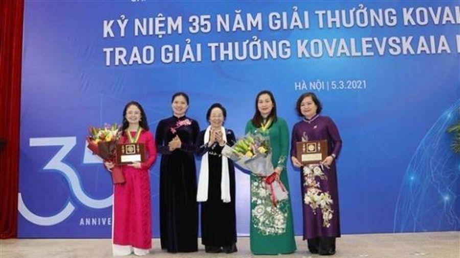 Giải thưởng Kovalevskaia 2020 vinh danh nữ trí thức Việt Nam