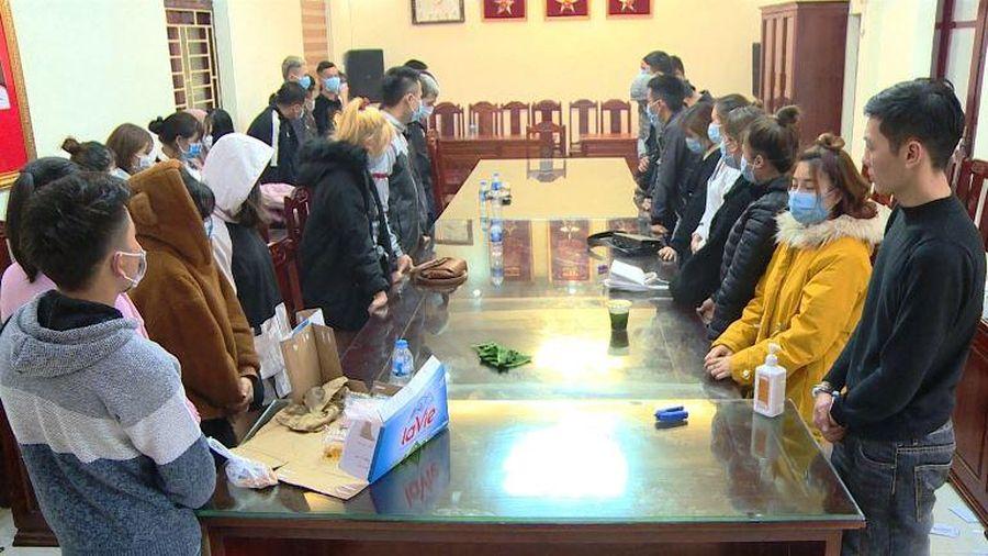 Thanh Hóa bắt 37 nam nữ sử dụng ma túy trong quán karaoke