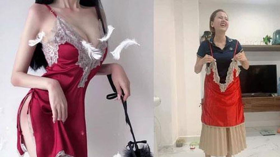 Mua váy ngủ gợi cảm, cô gái khiến dân mạng cười bò khi nhận hàng không khác gì tạp dề