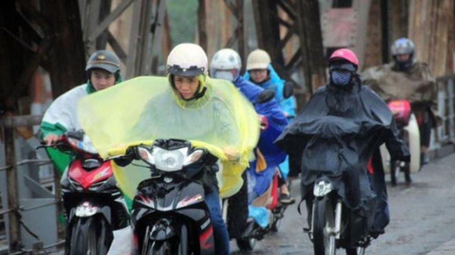 Không khí lạnh tăng cường gây rét và mưa phùn kéo dài ở Bắc bộ