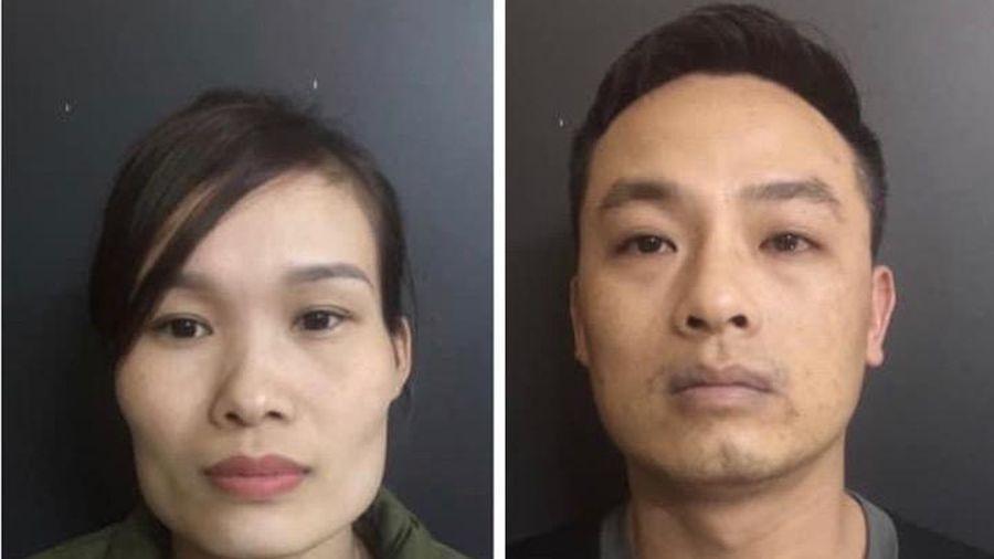 Cặp vợ chồng buôn ma túy bị bắt giữ
