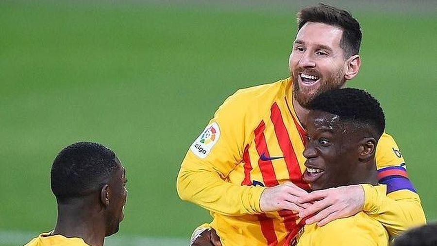 Messi lập cú đúp kiến tạo, Barcelona áp sát ngôi đầu