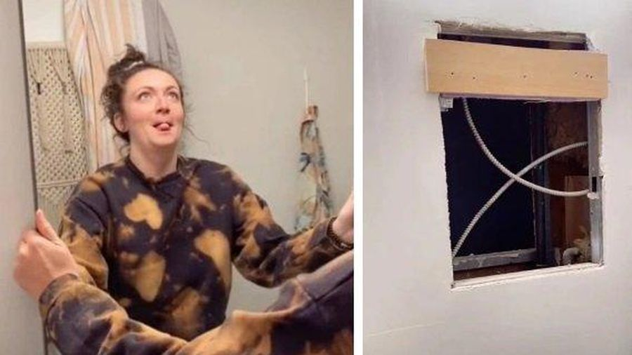 Cô gái phát hiện sự thật hãi hùng sau tấm gương trong nhà tắm