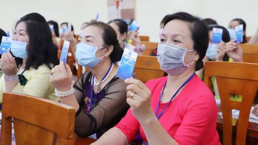 Đại hội đại biểu Phụ nữ Hội LHPN phường 14, quận 10, TPHCM: 'Xây dựng gia đình 5 không, 5 có, 3 sạch'
