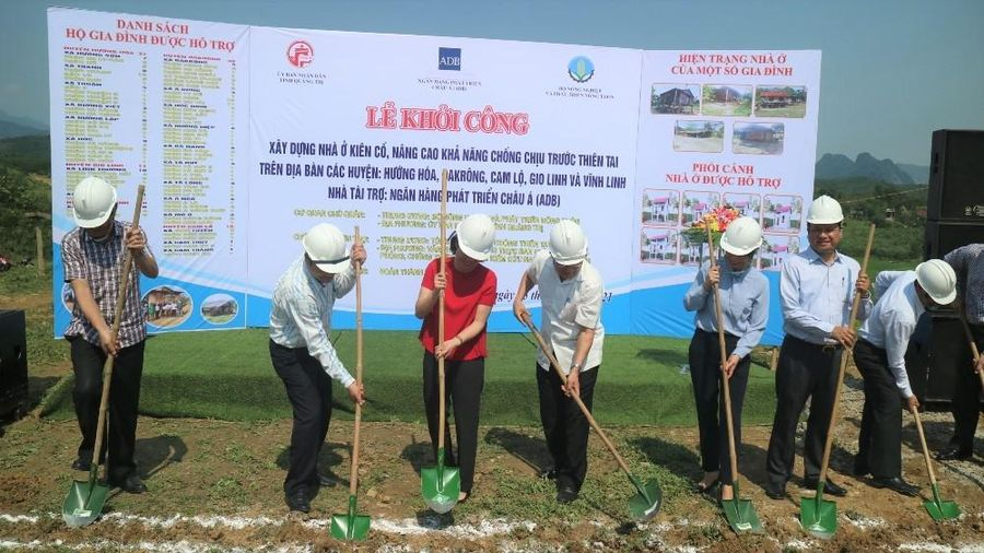 Quảng Trị: Khởi công xây dựng nhà ở phòng tránh thiên tai
