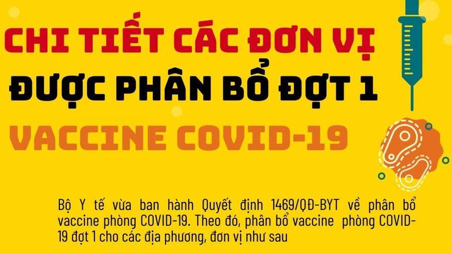 Chi tiết các địa phương, bệnh viện được phân bổ vaccine COVID-19 đợt 1