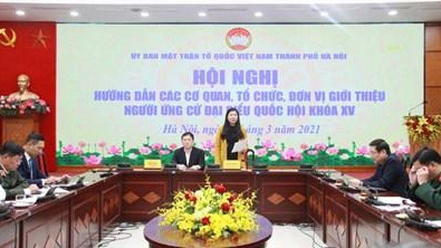Hà Nội: Đảm bảo sự bình đẳng của tất cả các ứng cử viên đại biểu Quốc hội