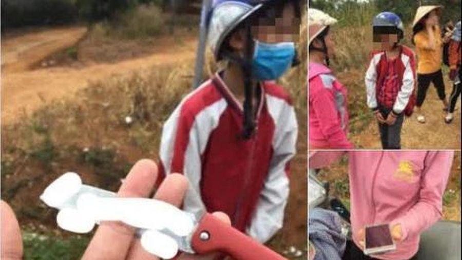 Thực hư thông tin thiếu niên 14 tuổi cầm dao đi cướp lấy tiền mua quà 8/3 xôn xao mạng xã hội