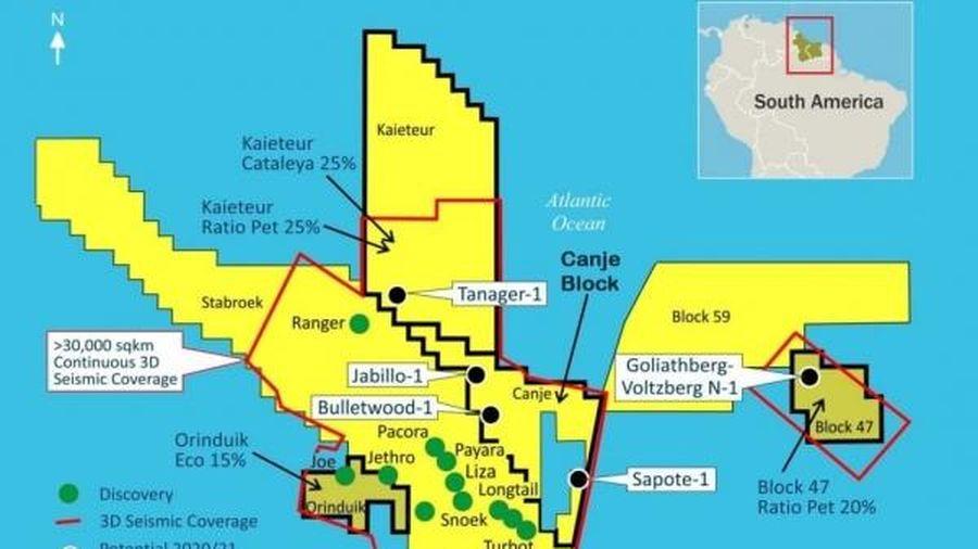 ExxonMobil khoan phải giếng khô thứ 3 trên thềm lục địa khơi Guyana