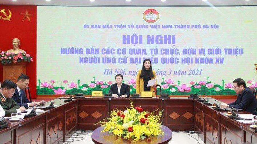 Hà Nội: 14 đại biểu được phân bổ do trung ương giới thiệu