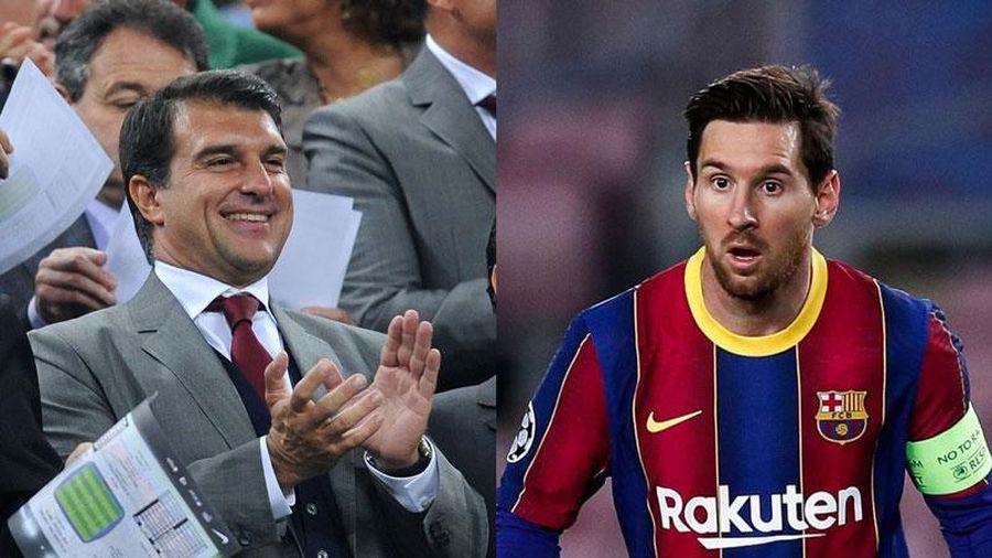 Messi phản ứng thế nào khi Laporta được bầu là chủ tịch Barca?